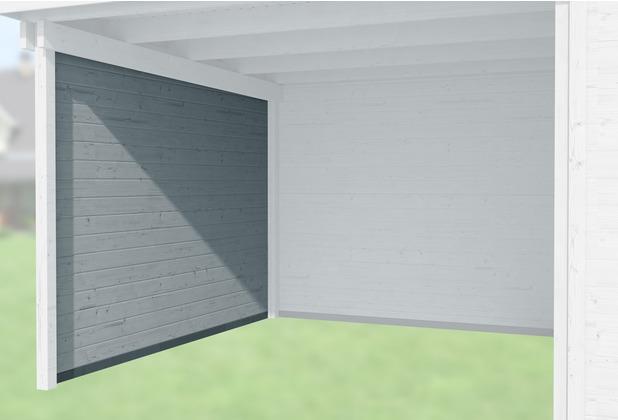 Weka Seitenwand 21 mm, für Haustyp 126 und 172 grau, Tiefe 295 cm