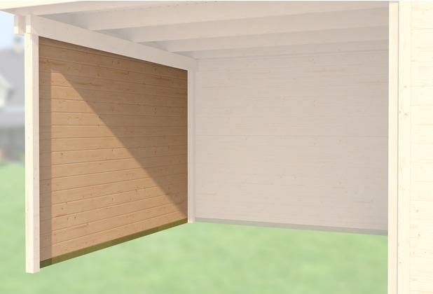 Weka Seitenwand 21 mm, für Haustyp 126 und 172 natur, Tiefe 235 cm