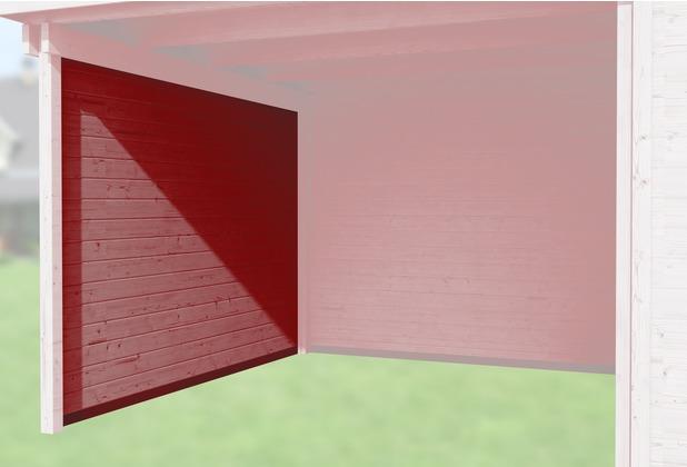 Weka Seitenwand 21 mm, für Haustyp 126 und 172 schwedenrot, Tiefe 295 cm