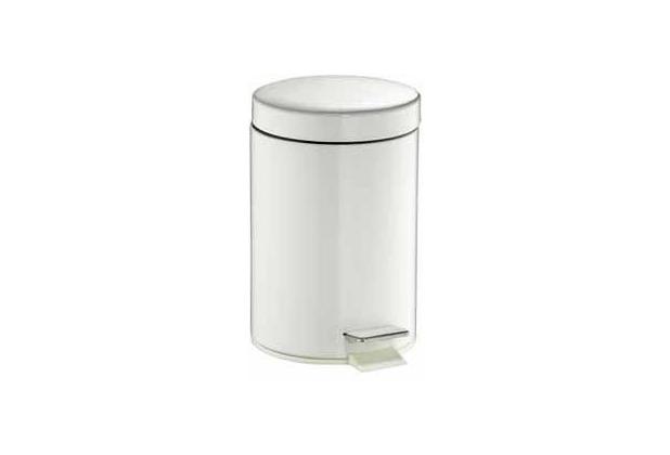 Wesco Treteimer Inhalt: 3 l, Farbe: weiß, rund