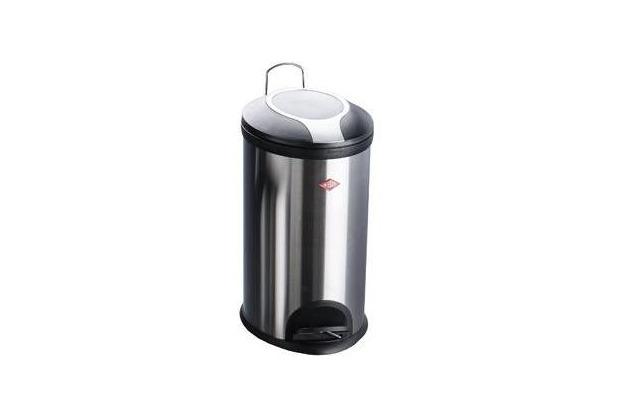 Wesco Treteimer oval 12 l Edelstahl, Kunststoff-Einsatz