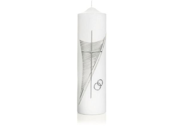 Wiedemann Hochzeitskerze Silber, Höhe 250 mm, ø 70 mm, 1 Stück