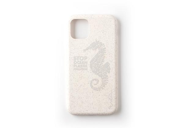 Wilma Stop Plastic Matt Seahorse for iPhone 11 White