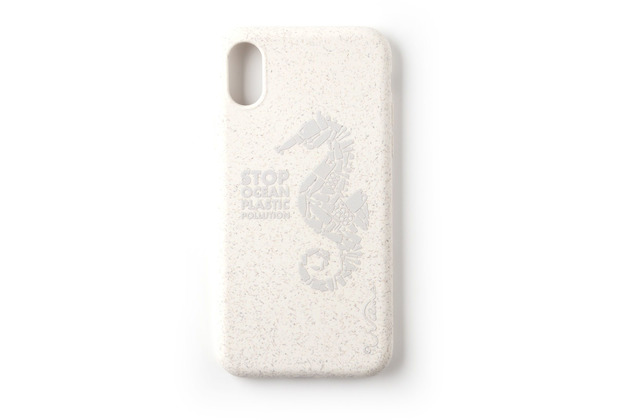 Wilma Stop Plastic Matt Seahorse for iPhone X/Xs White