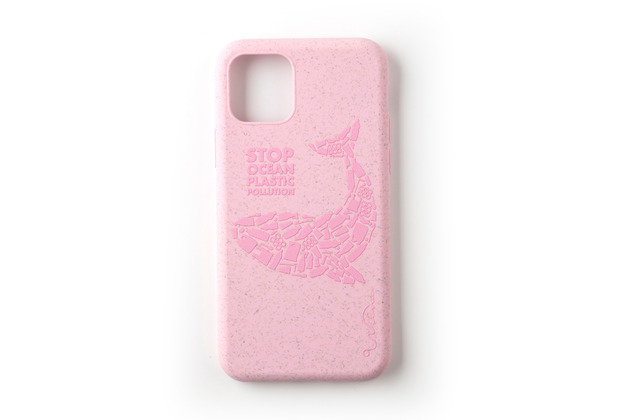Wilma Stop Plastic Matt Whale for iPhone 11 pink