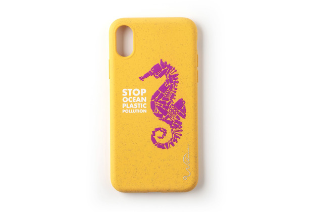 Wilma Stop Plastic Seahorse for iPhone XR yellow