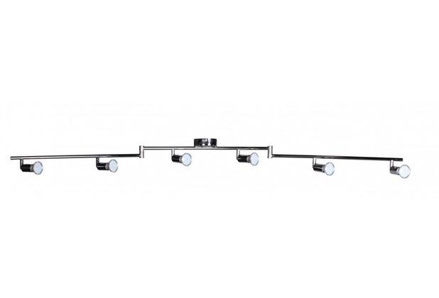 Wohnling 6er LED-Strahler Deckenleuchte Spotsystem LED Schienensystem / Gelenksystem Lampe Spot (EEK: A+)