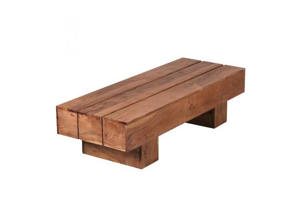 Wohnling Akazie Couchtisch Massiv 120 x 45 x 30 cm Massivholz