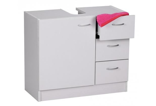 Wohnling Bad Waschbecken Unterschrank 54 x 63 x 30 cm 1 Tür, 3 Schubladen, weiß