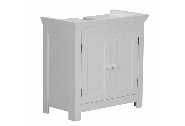 Wohnling Bad Waschbecken Unterschrank 55,5 x 57 x 30 cm 2 Türen weiß