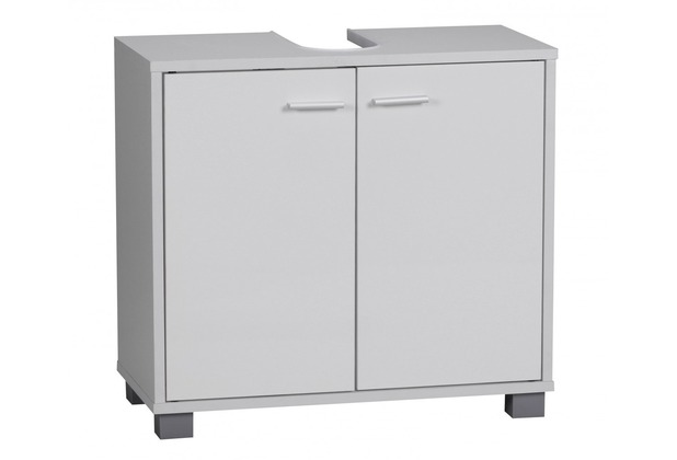 Wohnling Bad Waschbecken Unterschrank 60 x 55 x 30 cm 2 Türen weiß