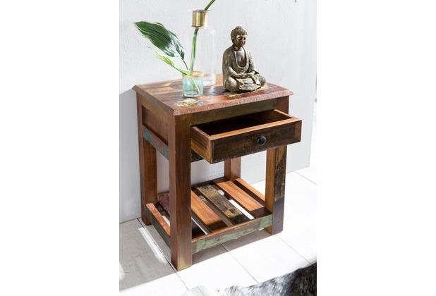 Holz Nachttisch wohnling beistelltisch delhi 45 x 37 x 60 cm massiv-holz nachttisch