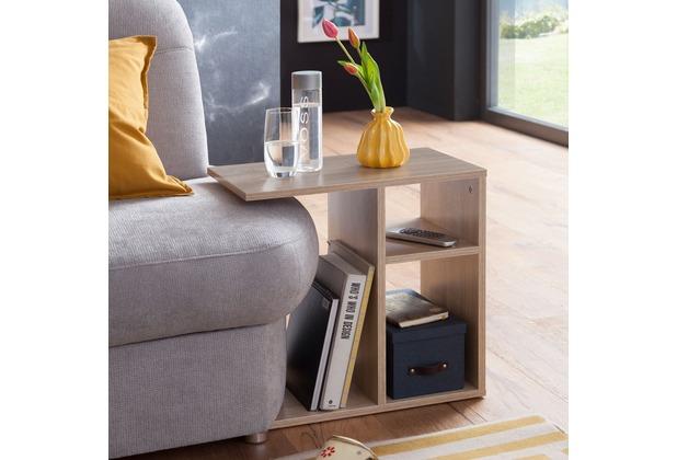 Wohnling Beistelltisch MILO 50x50x30 cm Holz Sonoma Design Anstelltisch Sofa, Couchtisch klein modern