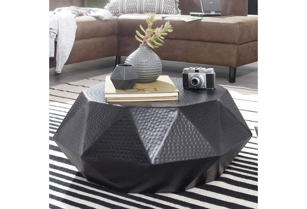 wohnling couchtisch diamant 73x28 5x73cm aluminium schwarz. Black Bedroom Furniture Sets. Home Design Ideas