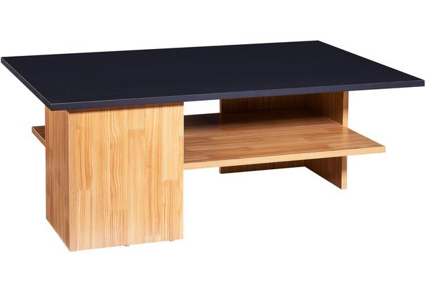 Wohnling Design Couchtisch 90x35x60 cm Anthrazit / Sandeiche, Sofatisch Groß, Tisch mit Stauraum