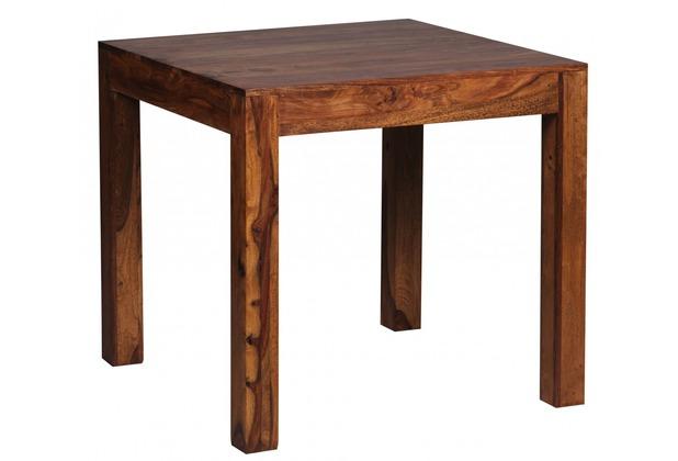 Wohnling Design Esstisch quadratisch Massiv 80 x 80 cm Sheesham Massivholz