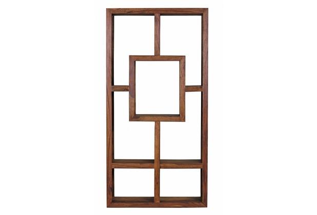 Wohnling Design Massives Bücherregal Sheesham 180 x 90 x 35 cm Massivholz