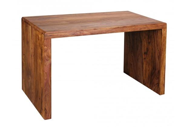 Wohnling Design Natur Sheesham Massivholz Schreibtisch 120 x 60 x 76 cm