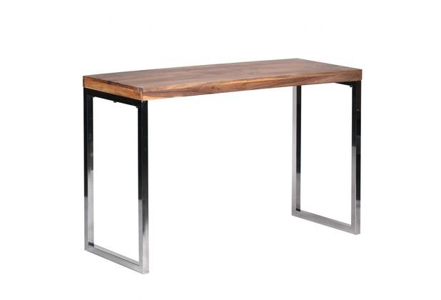 Wohnling Exklusiver Massivholz Konsolentisch 120 x 45 x 76 cm Tisch Akazie Massiv
