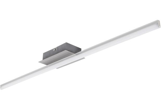 Wohnling LED-Deckenlampe AMBAR 1-flammige Wohnzimmerlampe in Stäbchen-Design 80 cm A+, Schlafzimmerleuchte 12 W, Leuchte Warmweiß 3000K, Lampe 800 Lumen, Deckenleuchte IP20 silber