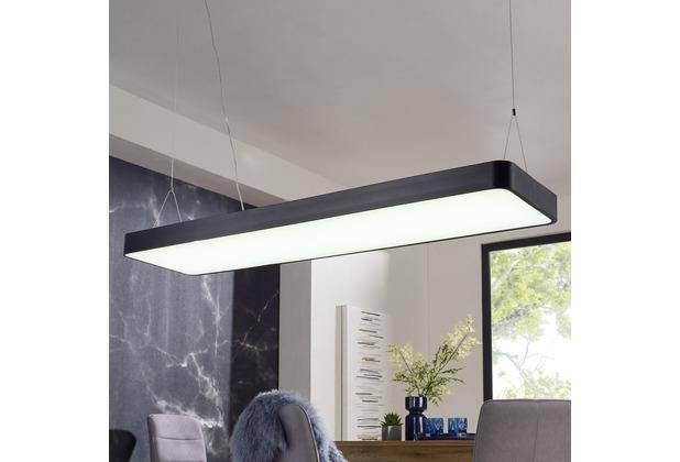 Wohnling LED-Deckenleuchte LINE 120x121x30 cm Matt schwarz, EEK A+, 64 Watt, ohne Schirm