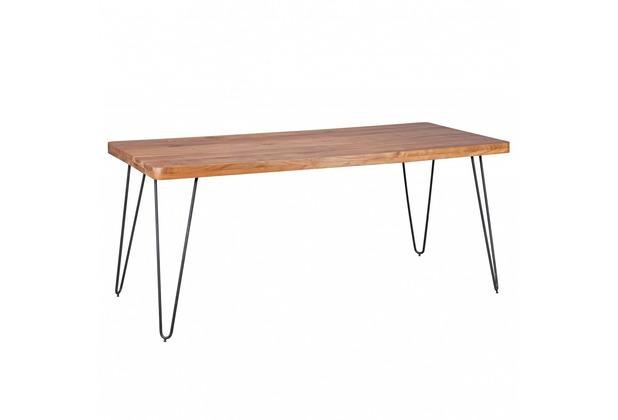 Wohnling Massivholz Akazie Esstisch 180 x 80 x 76 cm Küchentisch Massiv