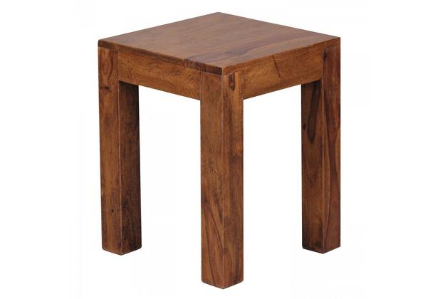 Wohnling Massivholz Beistelltisch 35 x 35 x 45 Sheesham