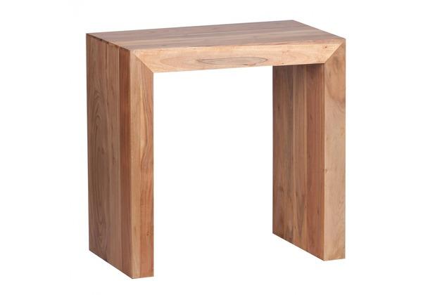 Wohnling Massivholz Beistelltisch 60 x 35 x 60 cm Akazie