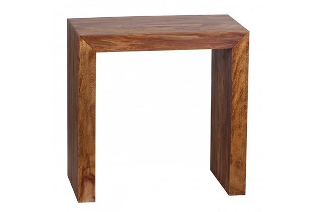 Wohnling Massivholz Beistelltisch 60 x 35 x 60 cm Sheesham