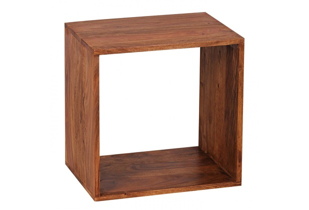 Wohnling Massivholz Sheesham Cube Regal 43,5 x 43,5 x 33 cm Cube