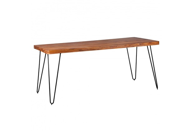 Wohnling Massivholz Sheesham Esstisch 180 x 80 x 76 cm Küchentisch Massiv