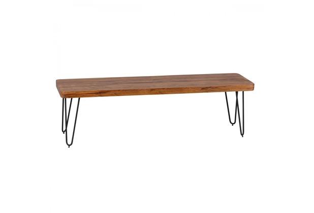 Wohnling Massivholz Sheesham Sitzbank 180 x 40 x 45 cm