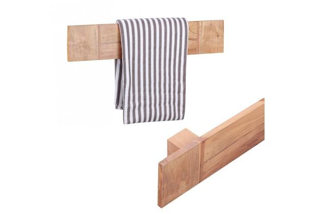 wohnling massivholz wand handtuchhalter 80 cm akazie. Black Bedroom Furniture Sets. Home Design Ideas