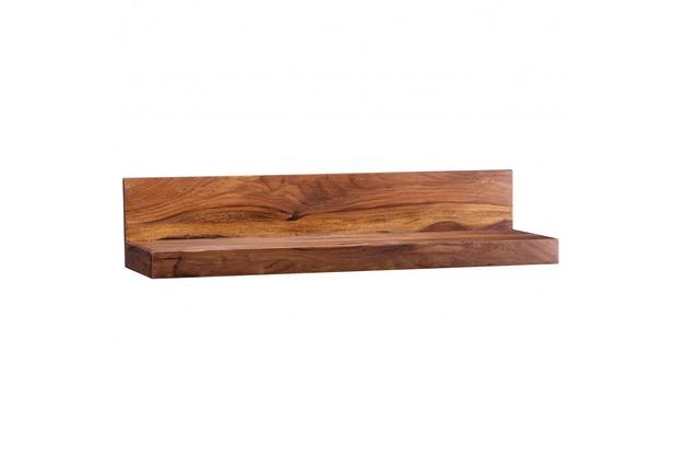 Wohnling Massivholz Wandregal 80 cm Sheesham