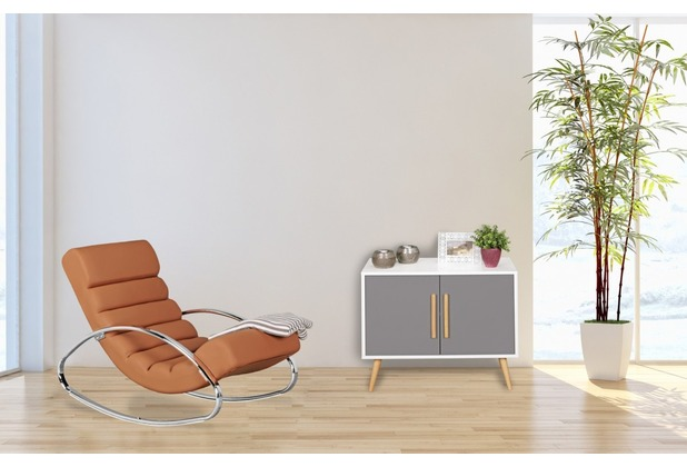 Wohnling Relaxliege Sessel Fernsehsessel Farbe braun Relaxsessel Design Schaukelstuhl Wippstuhl modern