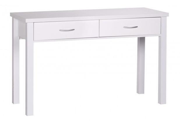 Wohnling Schreibtisch Sam Weiß mit 2 Schubladen 120 cm