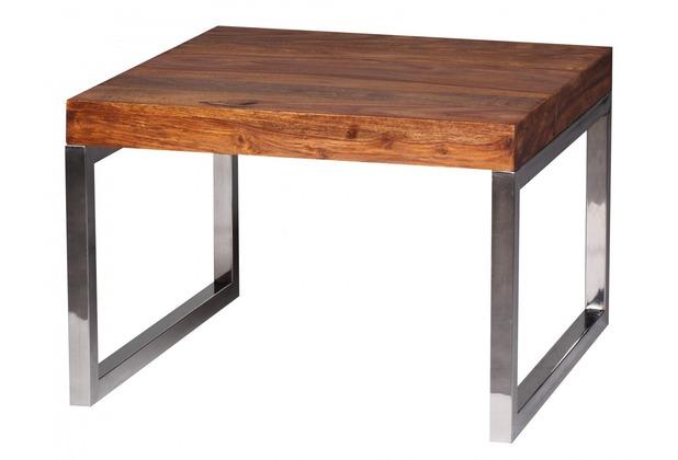 Wohnling Sheesham Beistelltisch Massiv 60 x 60 cm Massivholz