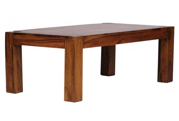 Wohnling Sheesham Couchtisch Massiv 110 x 60 cm Massivholz
