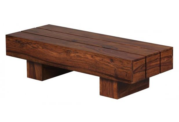 Wohnling Sheesham Couchtisch Massiv 120 x 45 x 30 cm Massivholz