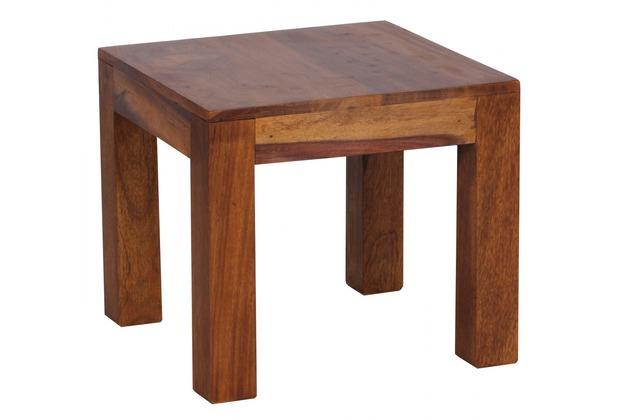 Wohnling Sheesham Couchtisch Massiv 45 x 45 cm Massivholz