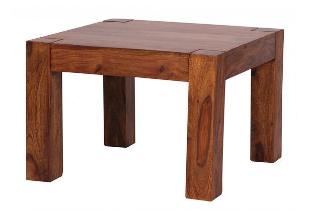 Wohnling Sheesham Couchtisch Massiv 60 x 60 cm Massivholz