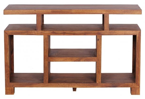 Wohnling Sideboard & TV Schrank Massiv 120 x 40 cm Massivholz Sheesham