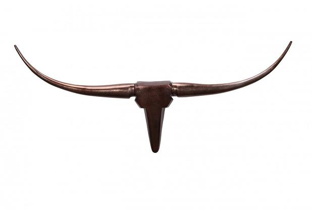Wohnling Wanddekoration Geweih Bull M 100 cm Aluminium bronze