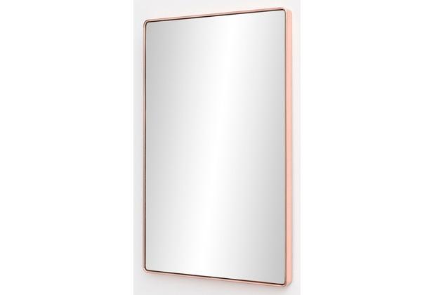 Wohnling Wandspiegel WL5.784 Kupfer 50 x 80 x 4 cm Spiegel Modern Rahmen Groß, Hängespiegel Schlafzimmer Kupferrahmen, Garderobenspiegel Flur zum Aufhängen Eckig, Design Dekospiegel Wand Wohnzimmer  kupfer