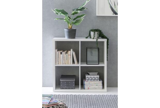 wohnling w rfelregal eddie 77x29x77 cm b cherregal mit 4. Black Bedroom Furniture Sets. Home Design Ideas