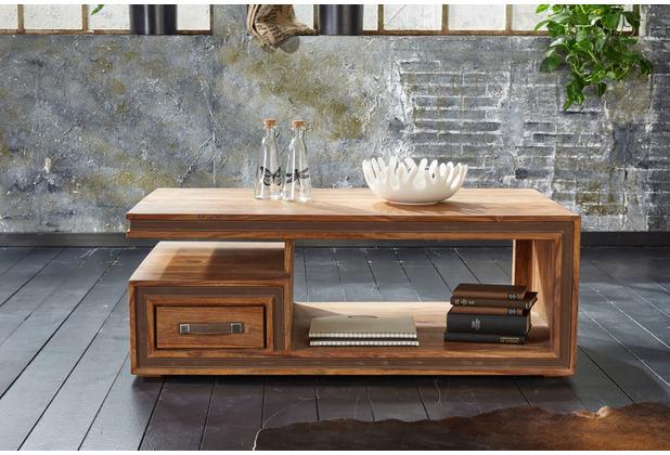 Wolf Möbel Couchtisch Holz 120x70 mit 1 Schublade
