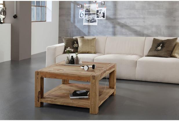 Wolf Möbel Couchtisch Holz 80x80 mit Ablage