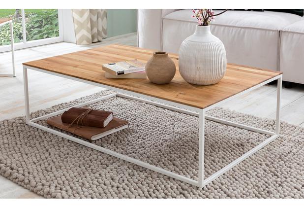 Woodlive Couchtisch Cube Weiß 110x70 cm