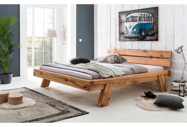 Woodlive Massivholzbett Brooklyn Natur 140x200  cm