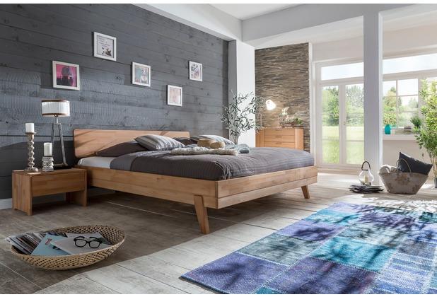 Woodlive Massivholzbett Livia Kernbuche 140 x 200 cm